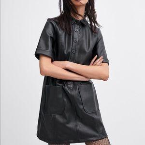 Faux Zara Leather Dress
